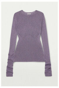 Lanvin - Metallic Ribbed-knit Sweater - Gray