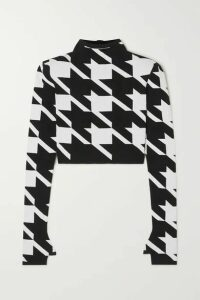 Balmain - Houndstooth Jacquard-knit Sweater - Black