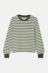 Madewell - Caressa Striped Cotton-blend Jersey Top - medium