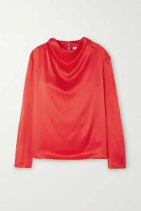 TOVE - Leone Draped Crinkled Silk-satin Top - Red