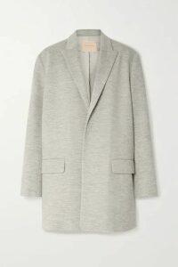 Roksanda - Shida Wool-jersey Blazer - Gray