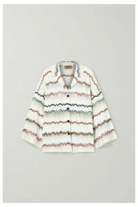 Missoni - Oversized Striped Crochet-knit Cotton-blend Shirt - White