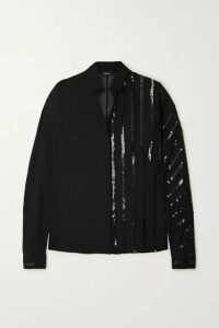 Akris - Sequin-embellished Mulberry Silk-georgette Blouse - Black