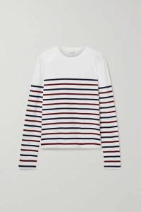La Ligne - Lean Lines Striped Cotton-jersey Top - Ivory