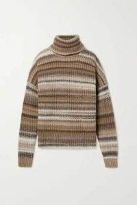 Altuzarra - Kelley Oversized Striped Wool-blend Turtleneck Sweater - Brown