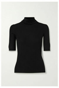 Theory - Leenda R Ribbed Merino Wool-blend Turtleneck Sweater - Black