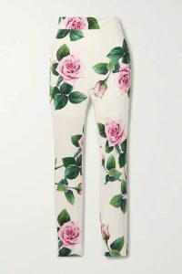 Dolce & Gabbana - Floral-print Cady Skinny Pants - White