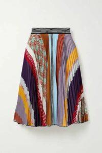 Missoni - Pleated Striped Crochet-knit Skirt - Navy