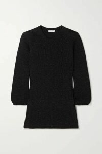 SAINT LAURENT - Metallic Knitted Sweater - Black