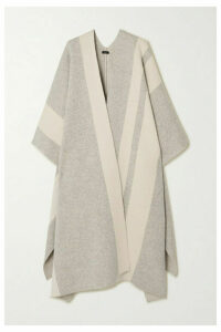 Joseph - Striped Wool-blend Cape - Gray