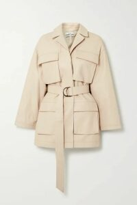 Co - Belted Leather Jacket - Off-white