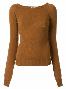 Nº21 arm slits knitted top - Brown