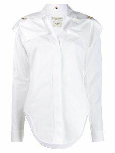 Bottega Veneta shoulder panels shirt - White