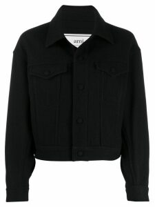 Ami Paris Boxy Fit Jacket - Black