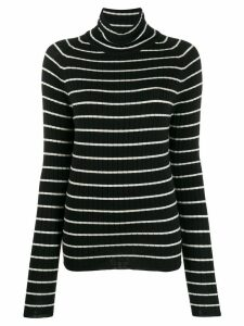 Ami Paris Turtleneck Striped Sweater - Black