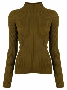 Des Prés ribbed knit jumper - Green