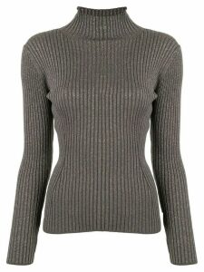 Des Prés ribbed shimmer jumper - Grey