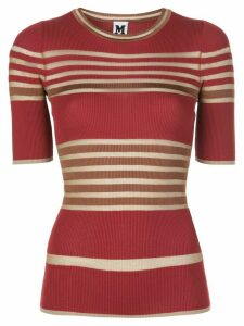 M Missoni striped ribbed T-shirt - Red