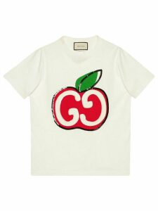 Gucci GG apple print T-shirt - White