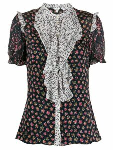 Liberty London Vita mixed-print ruffled blouse - Blue