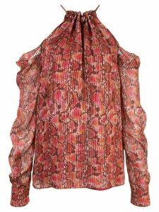 Altuzarra silk snake print blouse - PURPLE
