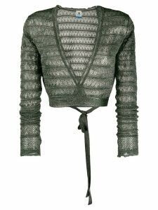 M Missoni geometric knit wrap top - Green