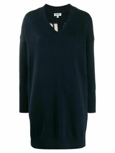 Kenzo loose-fit logo knitted dress - Blue