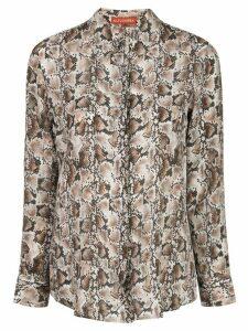 Altuzarra silk snake print shirt - White