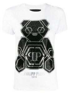 Philipp Plein embellished teddy bear T-shirt - White