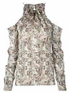 Altuzarra Elijah snake-print blouse - Brown