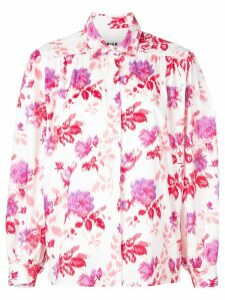 MSGM floral button-up shirt - White