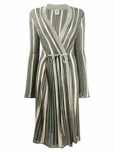M Missoni metallic knit longline cardigan - Green
