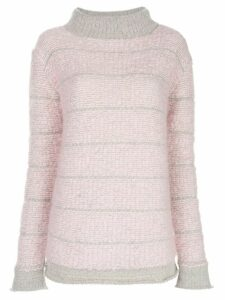 Eckhaus Latta roll-neck bouclé-knit sweater - PINK