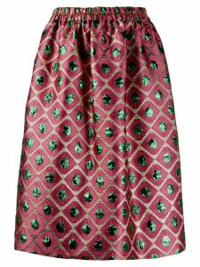 La Doublej x Mantero Pomodorini Rosa jacquard pouf skirt - PINK