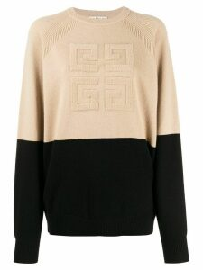 Givenchy 4G two-toned knitted jumper - NEUTRALS