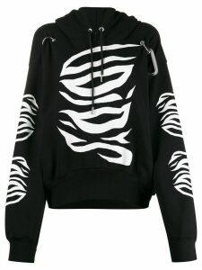 Diesel long sleeve printed hoodie - Black