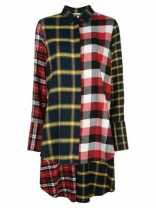 Monse patchwork checked print shirt - Multicolour