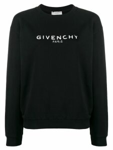Givenchy logo print cotton sweater - Black