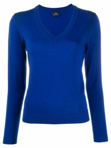 PS Paul Smith shoulder trim slim-fit jumper - Blue