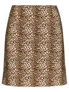 Marcia Ohio leopard print mini skirt - Brown