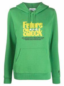 A.P.C. Future Shock print hoodie - Green