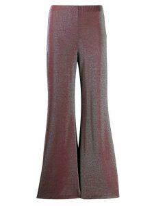 M Missoni metallic jersey flared trousers