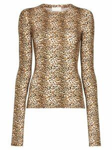 Marcia Chercher le Garçon leopard-print top - Brown