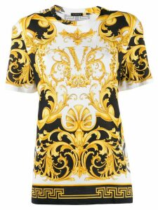 Versace Virtus Barocco print T-shirt - White