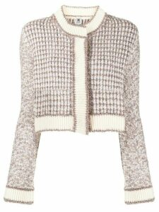 M Missoni cropped knit cardigan - White