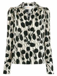 La Doublej x Mantero Viola Moses print blouse - NEUTRALS