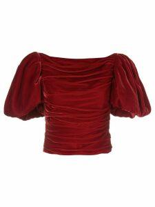 Khaite Kai puff-sleeves top - Red