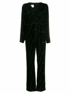 Nanushka velvet-flocked jumper - Black