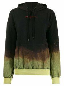 Ottolinger distressed tie-dye hoodie - Black