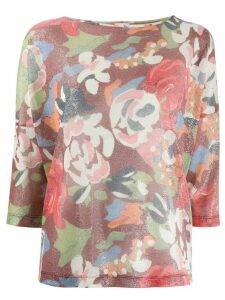 M Missoni floral knit jumper - Red